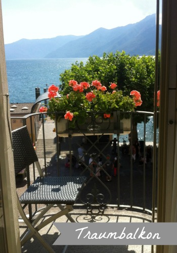 Traumbalkon mit Blick auf den Lago Maggiore