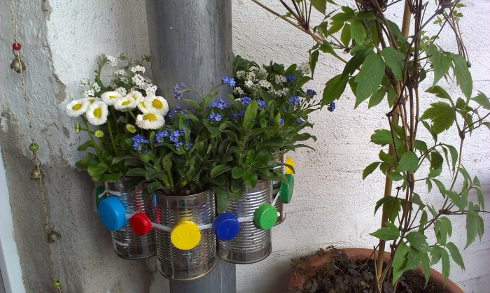 bepflanzte Regenrinne