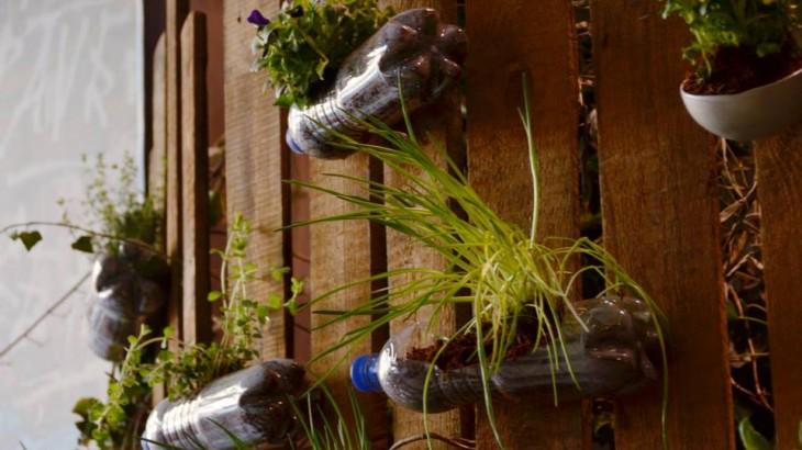 Upcycling Fundstück: Schwebender Garten