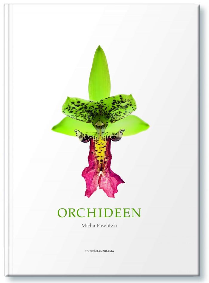 Das Buchcover zeigt eine Blüte von Cymbidiella pardalina - Copyright Micha Pawlitzki & Edition Panorama