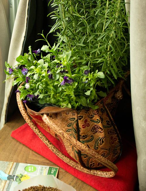 Handtasche bepflanzen