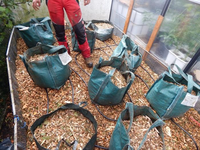Biomeiler selbstgebaut