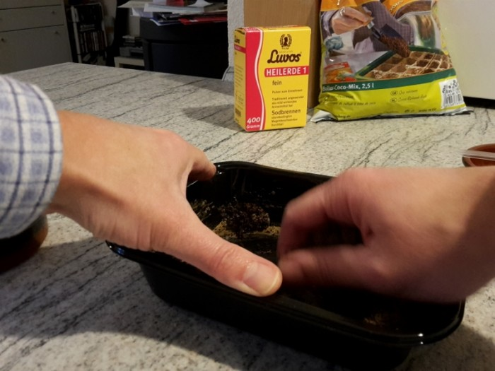 Bei der Herstellung eigener Samenkugeln ist Matschen erlaubt