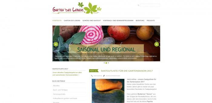 Samen, Seminare und Information. Auf der Seite: Garten des Lebens findet Ihr alles