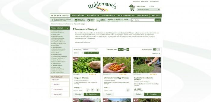 Rühlemann bietet alles: Pflanzentipp, Bertungen, Blog, Facebookseite, Kundenempfehlungn und vieles mehr. Eine Seite für lange Winterabende, spannender als ein Krimi im Fernsehen