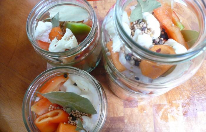 Gemüse lässt sich gut als Mixed Pickles einlegen. Lecker!Foto: R.Leemhuis