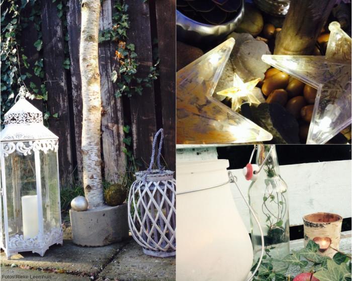Laternen, Lichterketten und Kerzen bringen Licht und Stimmung in den winterlichen Garten.