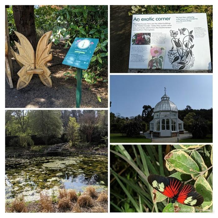 Malahide Gardens, Irland, Schmetterlingshaus