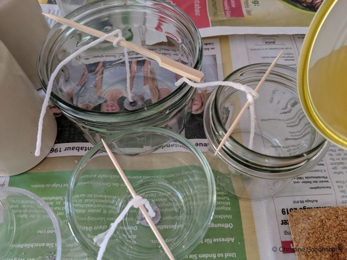 DIY, Anti-Mücken-Licht, Kerzen gießen,